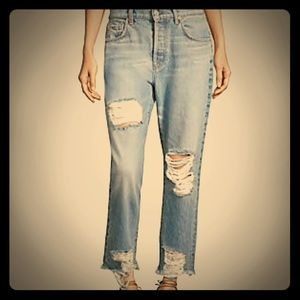 7 for all mankind ripped boyfriend jeans